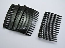20 Black Plastic Hair Clips Side Combs Pin Barrettes 70X40mm for Ladies