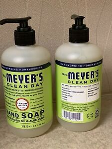 2-NEW MRS MEYERS LEMON VERBENA HAND SOAP 12.5 FL OZ EACH BOTTLE