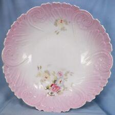Pink Porcelain Bowl Flower Sprays Porcelain Whiteware Victorian Antique A Beauty