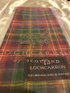 """15 x New"""" LOCHCARRON of Scotland 100% New wool Tartan Women/Mens scarfs☆small"""