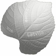 Latvia 2020 silver coin 5 euro linden leaf proof