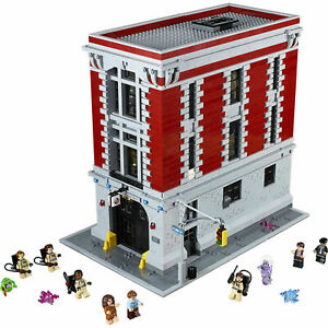 FAST SHIPPING Custom GHOSTBUSTERS FIREHOUSE COMPITIBLE to 75827  + Manual Book