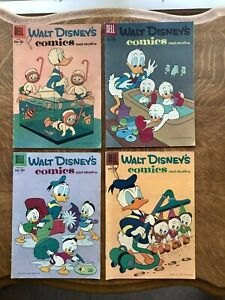 4 Dell Walt Disney's Comics & Stories Donald Duck #7, 3, 5, 7 Vols 19/20