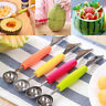Cream Home Double-End Fruit Melon Cutter Baller Scoop Spoon Stainless Steel