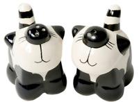 Cat Salt & Pepper Pots Condiment Set Salt and Pepper Pot Shaker Novelty Ceramic