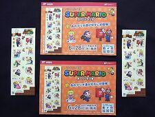 SUPER MARIO Greeting Stamp Sheet x 2 Set Nintendo Limited Edit. on Sale 6/28/17'