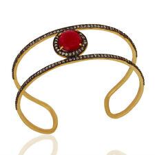 Handmade Gold Plated Fashion Gemstone Unique Cuff Bangle Jewelry