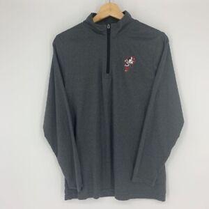Ohio State Buckeyes Boys Scarlet & Gray Heathered Fleece Jacket Gray 1/4 Zip L
