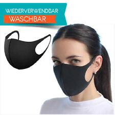 Mund Nasenmaske Gesichtsmaske Maske Wiederverwendbar Waschbar schwarz