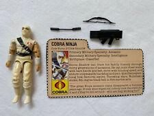 Vintage GI Joe 1984 STORM SHADOW Cobra Ninja action figure + file card