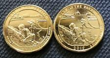 2019 P&D 24K GOLD LAYERED WAR IN THE PACIFIC (GUAM) ATB 2 COIN QUARTER SET