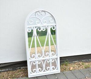 Stylish Window Mirror White Decor Wall livingroom garden hallway flowery 71X35Cm