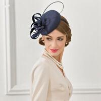 Frauen 1920er Jahre Vintage Wollfilz Strau? Quill Fascinator Hut Cocktail A569