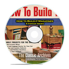 How To Build it Magazine, 5 Furniture Woodworking Magazine, PDF DVD D01