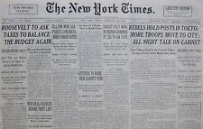 2-1936 February 28 REBELS HOLDS POSTS IN TOKYO. UK PREPARE FOR WAR IN 4 YEARS.