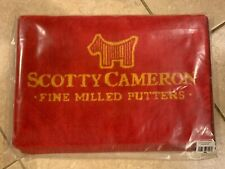 """Brand New Scotty Cameron Scotty Dog Towel Red Gold - Still In Bag  ~ 42"""" x 16"""""""