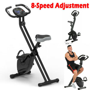 Folding Magnetic Exercise Bike Adjustable Home Gym Bicycle Cycling Sport Machine