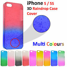 New 3D Water Pattern Raindrop Colour Hard Back Cover Protecor For iPhone 5S 5