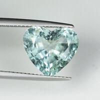 4.40 ct DAZZLING SEA BLUE GREEN NATURAL ELBITE TOURMALINE - Heart See Vdo 6067