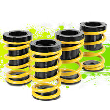 """FOR 01-05 HONDA CIVIC RACE COILOVER 1-3""""LOWERING COIL SPRING SET 02 03 04 YELLOW"""