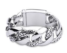 Acero inoxidable pulsera serpiente heavy Bracelet Snake Biker Stainless Steel/23,5 cm