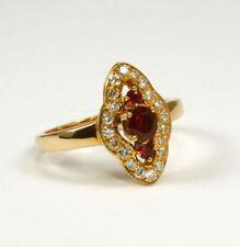 Anelli di lusso rossi rubino , Misura anello 16