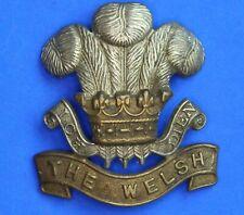 More details for ww1 welsh regiment (welch) cap badge - slider missing       [22219]