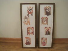 2 cut paper Asian Oriental framed art detailed cutting wall decor Chinese ?