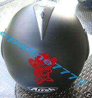 Aufkleber Sticker Totenkopf Sheriff Schädel Motorradfahrer Chopper Motorrad Helm