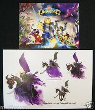 SDCC San Diego Comic Con 2010 LEGO Universe promo card EXPIRED! & Postcard
