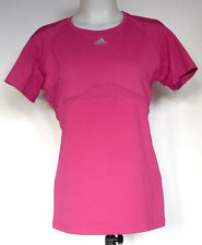 Adidas Athletic Dark Pink Polyester Short Sleeve Fitness Shirt M