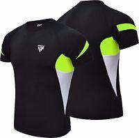 RDX Rash guard MMA Compresión Camisa capa base manga corta erupción jiu-jitsu