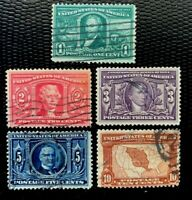 US Stamps SC#323-327 Louisiana Purchase Issue Used Complete Set CV:$85