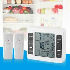 Wireless Audible Alarm LCD Digital Refrigerator Thermometer with 2pcs Sensor