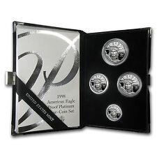 1998-W 4-Coin Proof Platinum American Eagle Set (w/Box & COA) - SKU # 8581