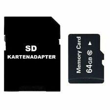 64GB MICRO SD SPEICHERKARTE INKL. SD KARTENADAPTER - UNIVERSAL HANDY TABLET TAB