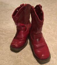 Gymboree Red Cowboy Boots sz 8