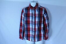Men's Red & Blue AEROPOSTALE Long Sleeve Plaid Casual Dress Shirt - Size M