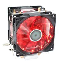 Two Fan LED CPU Cooler Cooling Heatsink for Intel LGA775/1156/1155 AMD AM2+/AM3