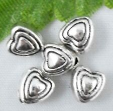 Wholesale 63/138Pcs Tibetan Silver Heart Spacer Beads 6x5mm(Lead-free)