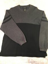 Eddie Bauer Sweater Men's XL Black & Gray Pullover Long Sleeved EUC