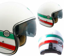 CASCO JET MOTO SCOOTER  VINTAGE 133 CGM  OCCHIALE FUME' A SCOMPARSA