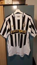 2003-2004 JUVENTUS CALCIO CASA Maglietta Medium Nike Vintage FASTWEB