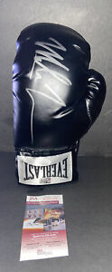 MIKE TYSON SIGNED EVERLAST BLACK BOXING GLOVE~JSA COA WITNESSED~FREE SHIPPING~LH