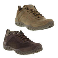 Caterpillar Cat Arise Mens Brown Leather Wide Fit Trainers Shoes Size UK 7-12
