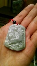 Smooth certified carved Genuine jade necklace year of pig lucky wealth prosperit
