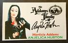 """""""THE ADDAMS FAMILY"""" ANJELICA HUSTON """"MORTICIA ADDAMS"""" AUTOGRAPHED 3X5 INDEX CARD"""