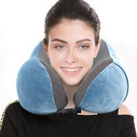 New Travel Neck Pillow Memory Foam Cushion UShape Support Headrest Car Flight BY