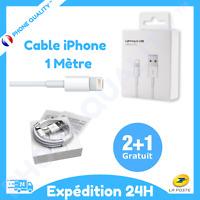 Câble original USB 1M Chargeur Lightning Apple pour Iphone 5/5C/5S/6/6S/7/8/X/XR