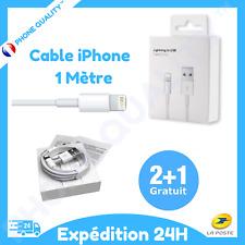 Câble original USB 1M Chargeur Lightning pour Apple Iphone 5/5C/5S/6/6S/7/8/X/XR